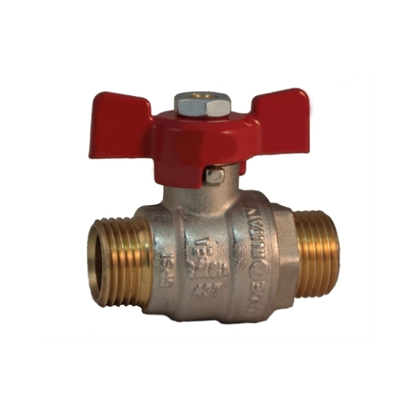 MM full bore ball valve PN25 with butterfly handle