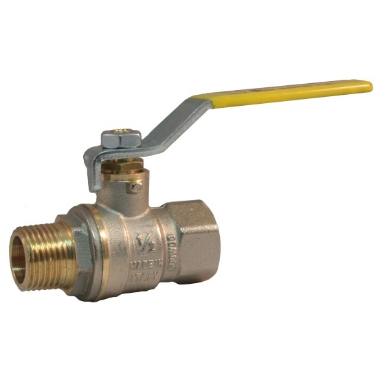 MF heavy full bore gas ball valve with iron lever handle
