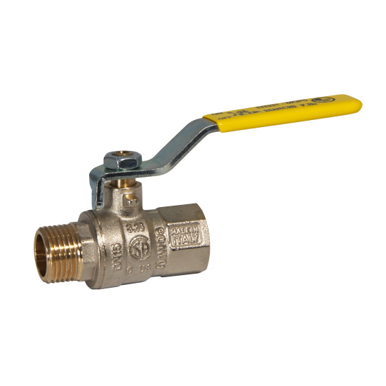 MF gas ball valve with iron lever handle