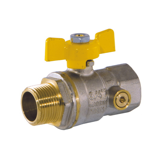 MF ball valve with pressure gage port