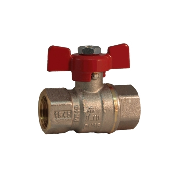 FF full bore ball valve PN 40 with butterfly handle