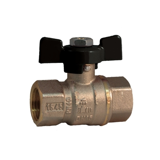 FF solar full bore ball valve PN 40 with butterfly handle