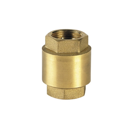 Brass check valve PN12, plate in polymer