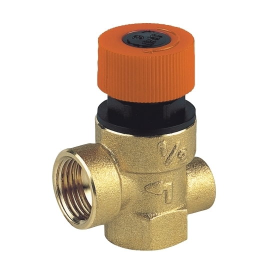 Safety valve female connection, with manometer connection
