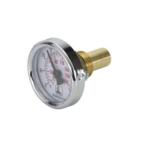 Bimetallic thermometer Ø 40mm. Scale: 0°- 80°C / 32°-170°F