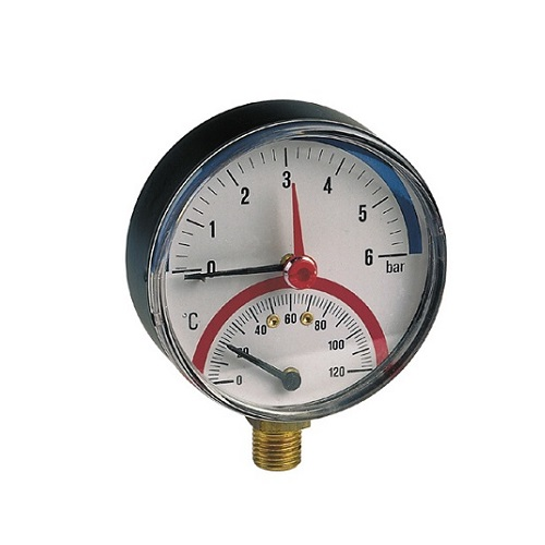 Thermomanometer back/vertical connection