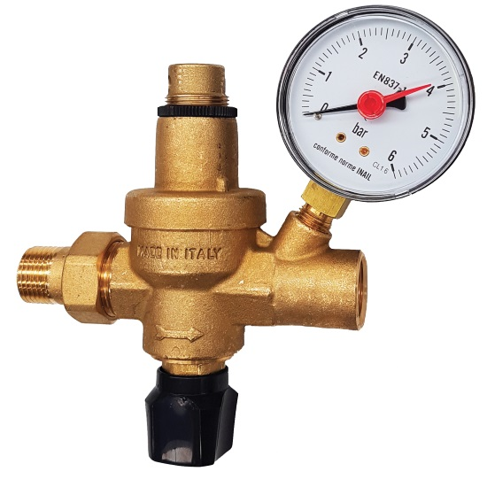 Automatic valve with manometer