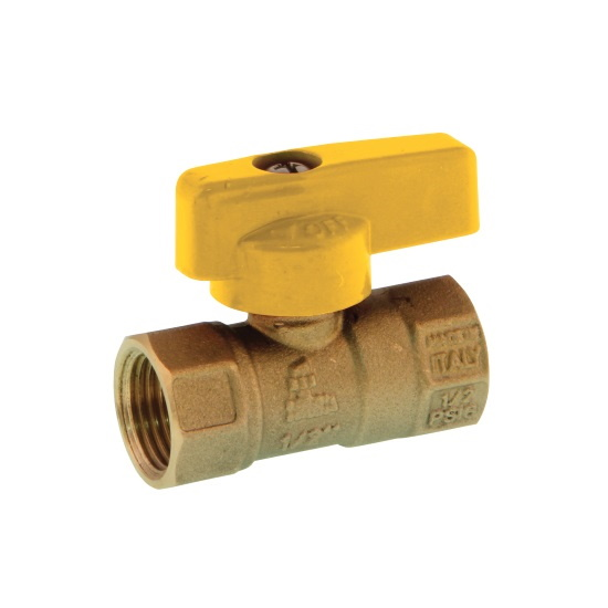 FF NPT one piece body gas ball valve with aluminum handle