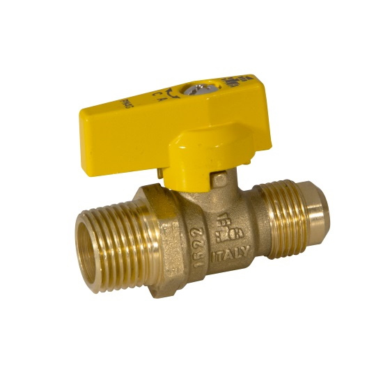 M NPT x FLARE gas ball valve with aluminum lever handle