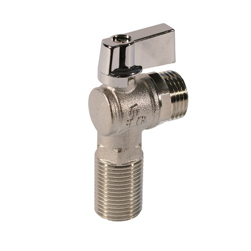 Angle ball valve male male connection, aluminum handle