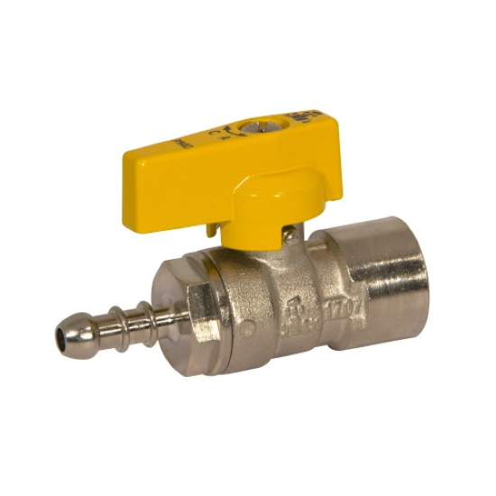 Female connection liquid gas ball valve with hose attachment