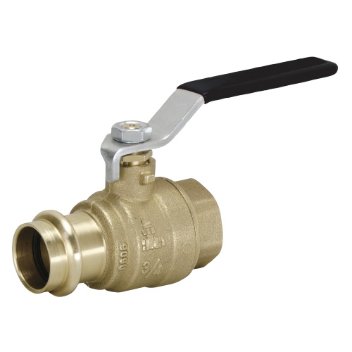 DZR press ball valve with press-fit end V profile