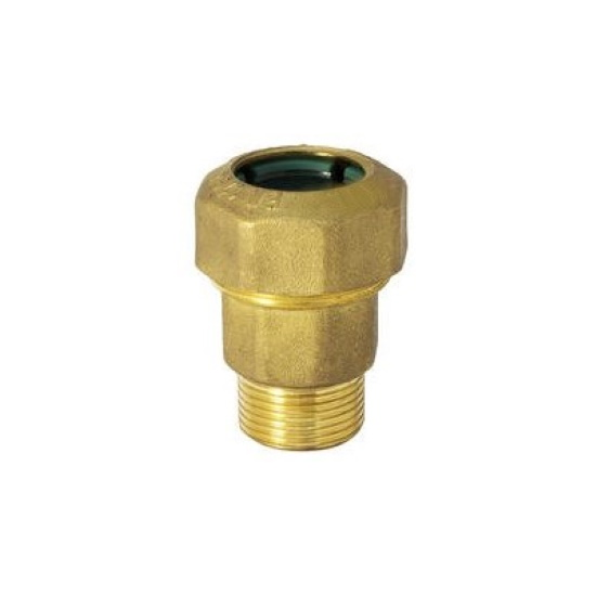 Male straight pipe fitting quick connection