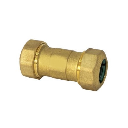 Double straight pipe fitting