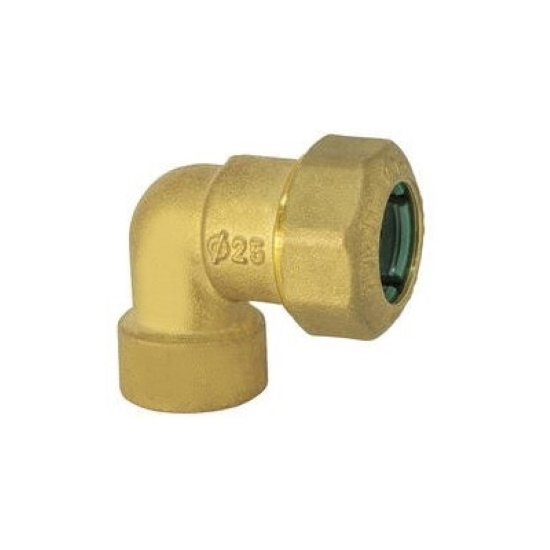 Female curved pipe fitting quick connection