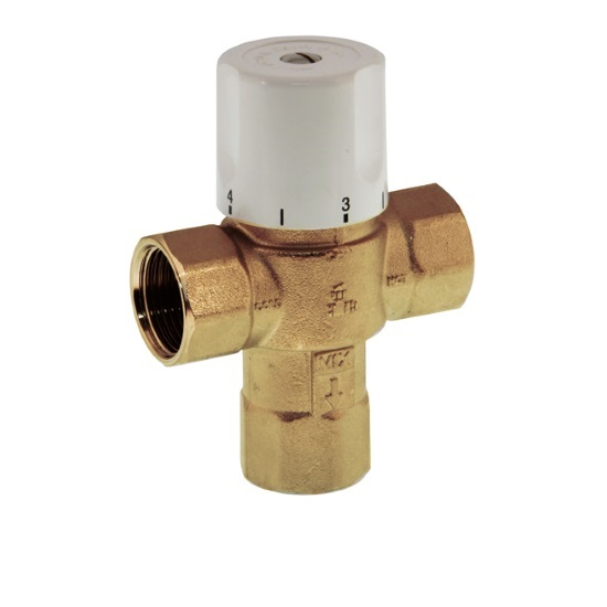 3 ways thermostatic mixing valve with NPT female connection