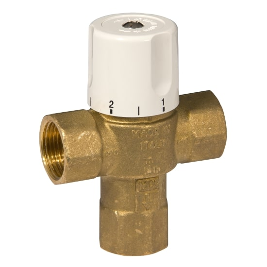 3 ways thermostatic mixing valve with female connection