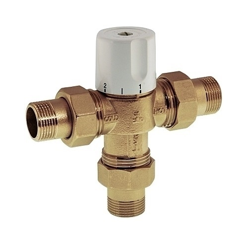 3 ways thermostatic mixing valve with NPT male connection