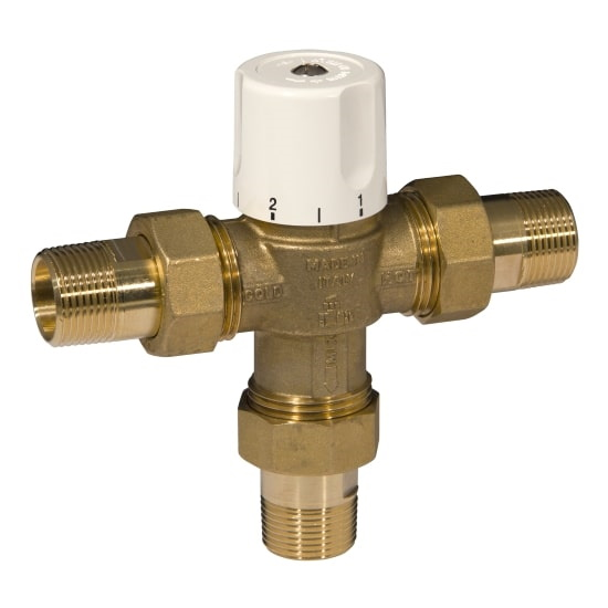 3 ways thermostatic mixing valve with male pipe union