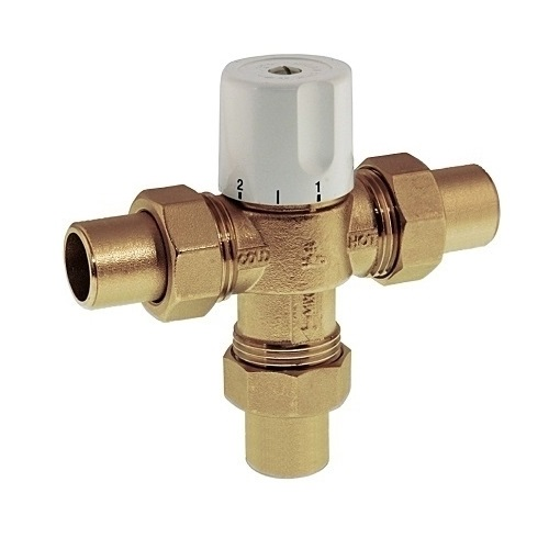 3 ways thermostatic mixing valve with solder ends