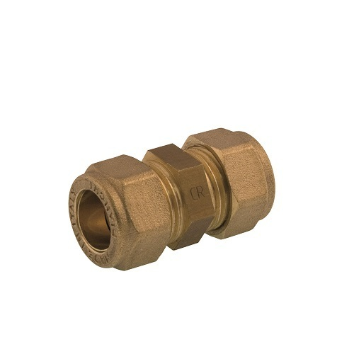 Straight double coupling DZR brass