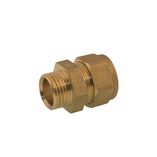 Straight male coupling DZR brass