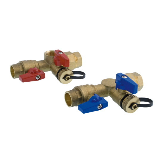 Solder tankless isolation ball valves