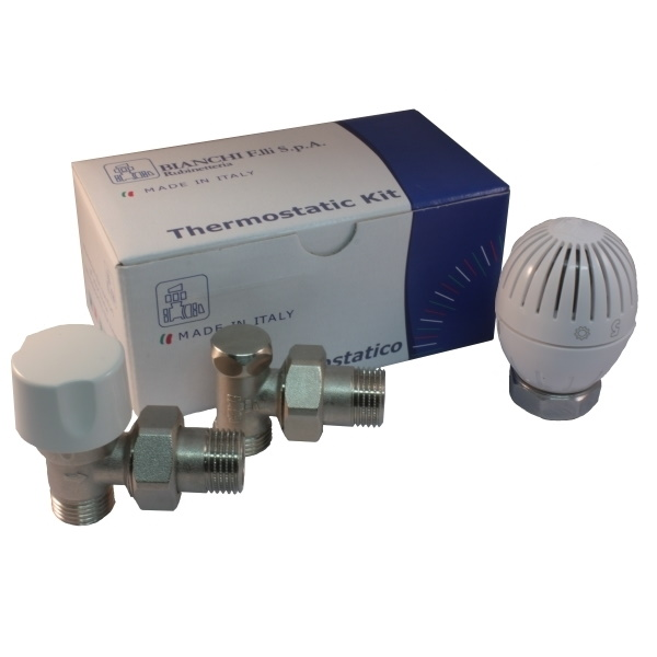 Angle thermostatic kit for copper, multilayer and Pex pipe