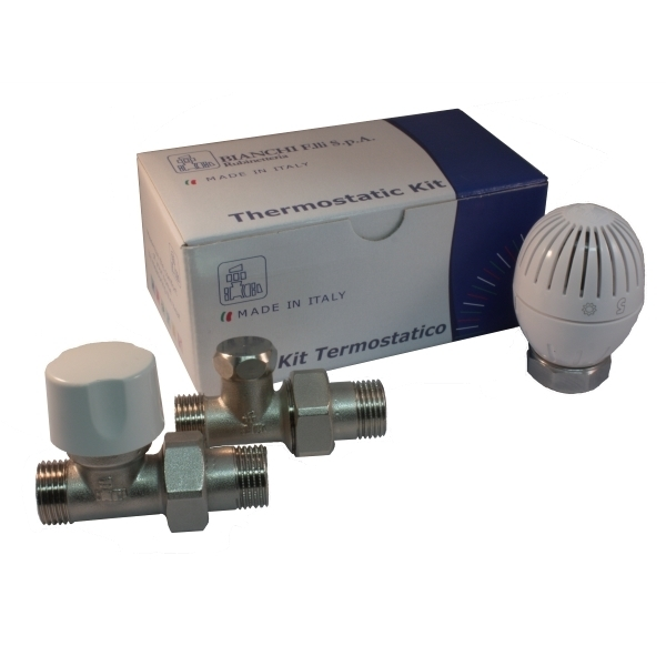Straight thermostatic kit for copper, multilayer and Pex pipe